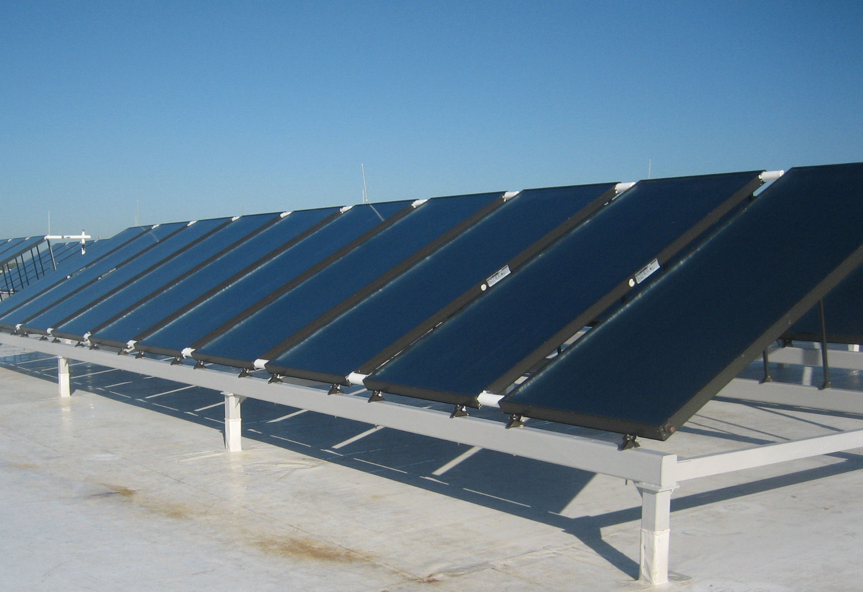 Bank of Solar Thermal Collectors